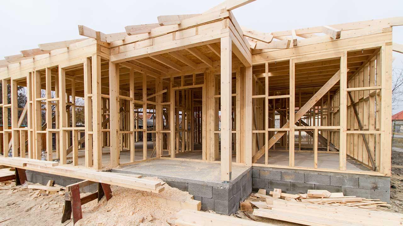 Carpentry work site.