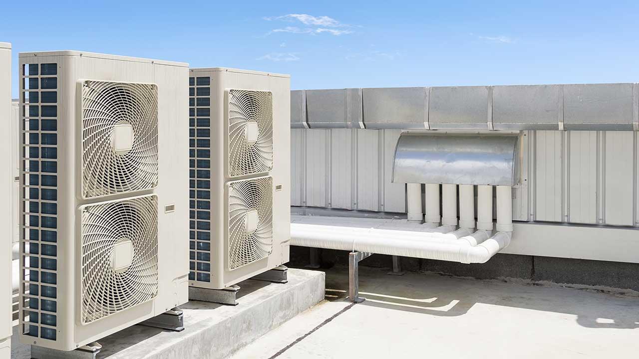 HVAC work site.