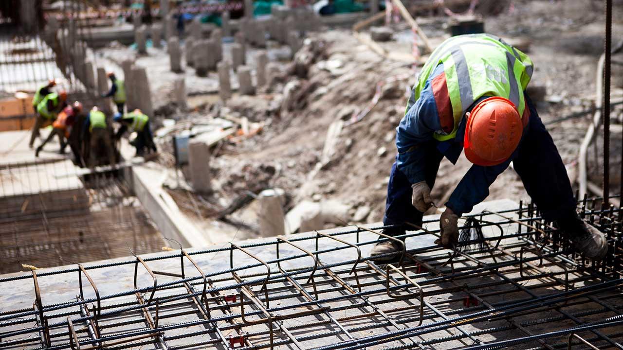 Reinforcing Steel work site.