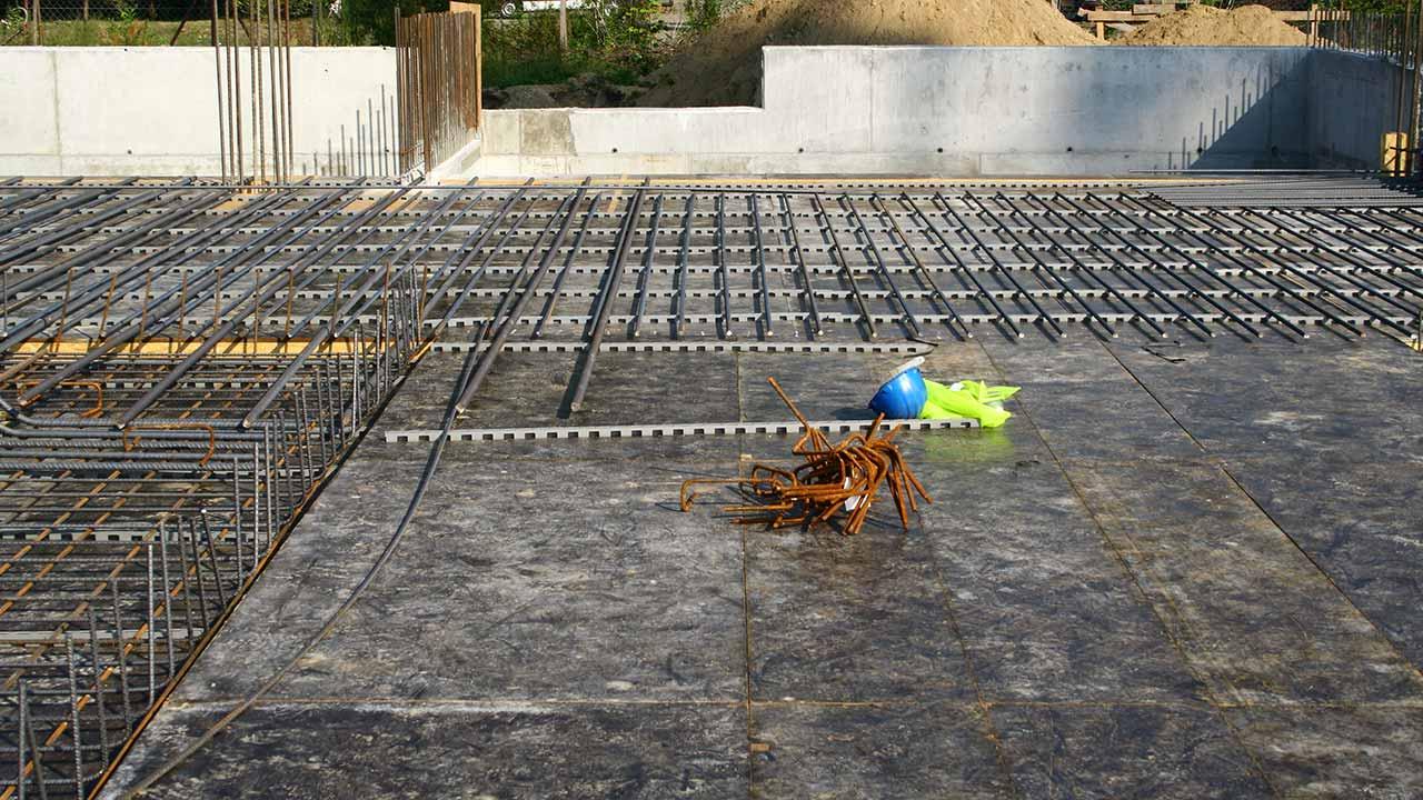 Steel Fixing work site.