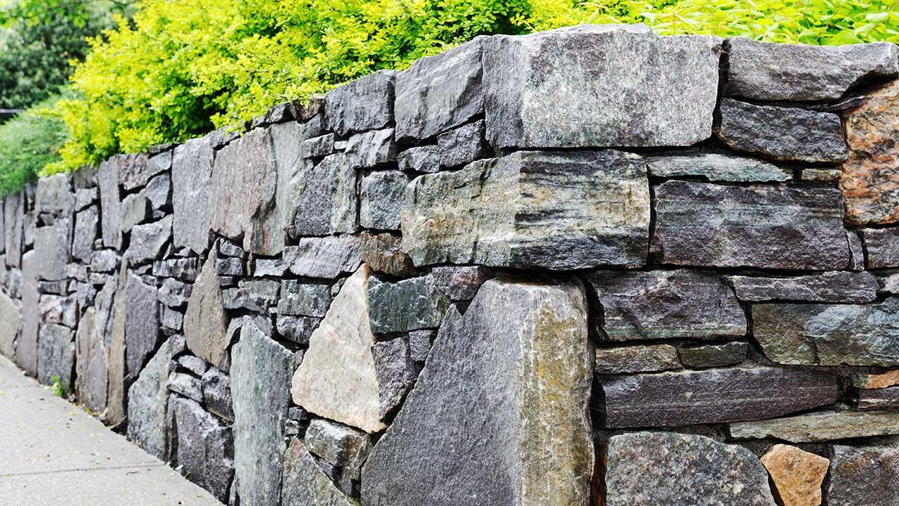 Stone Masonry work site.
