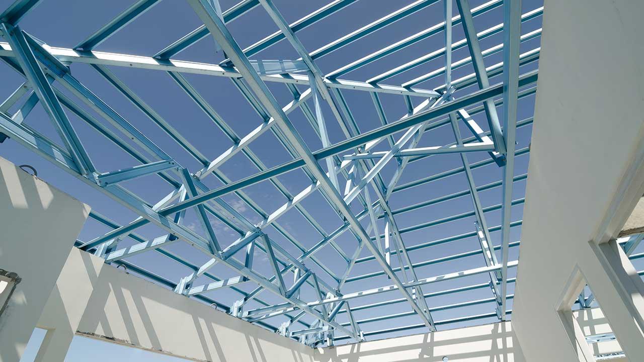 Structural Steel work site.